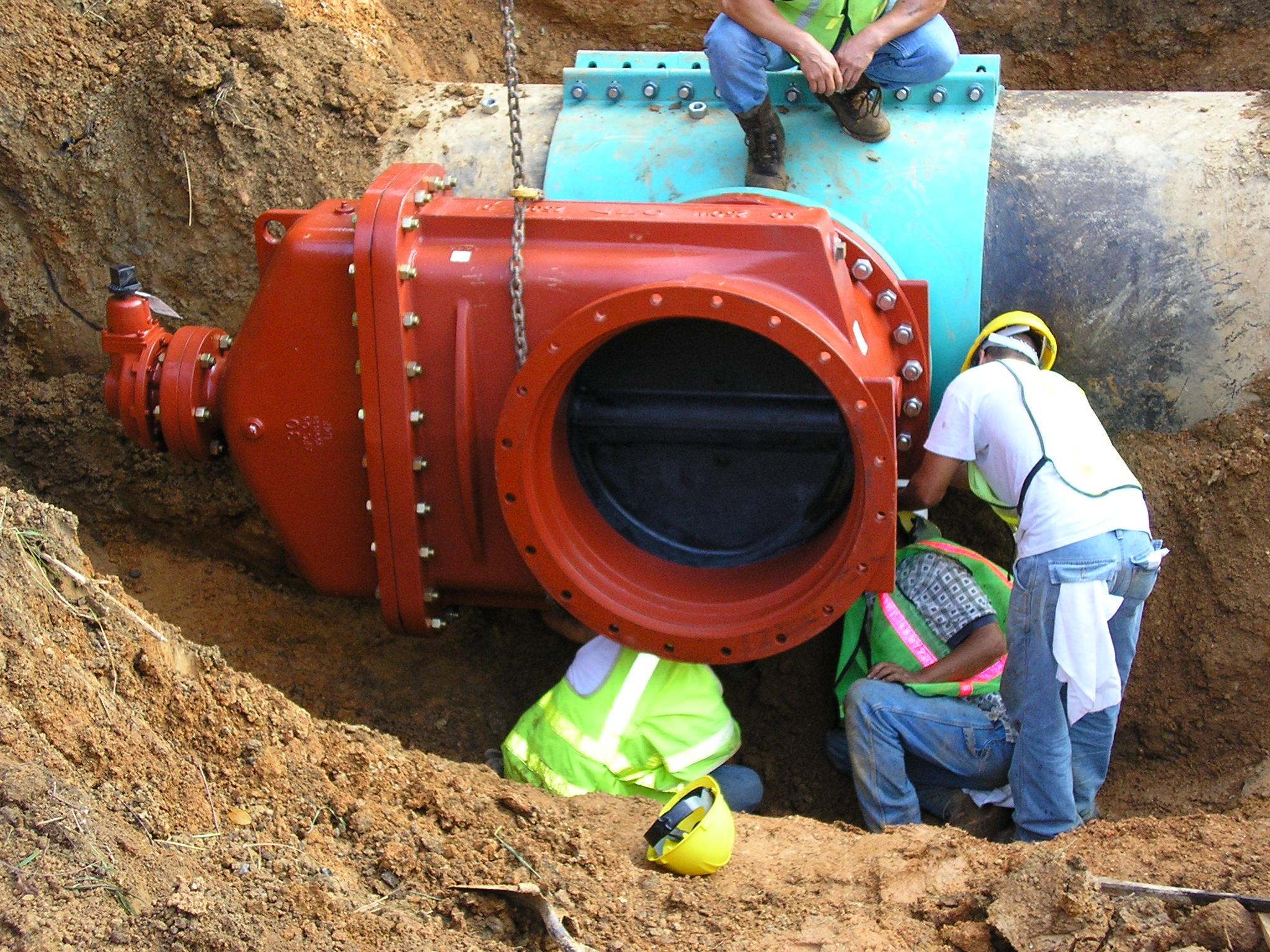 water main repair with water main repair. & Water Main Repair. Download Male Workers Repair Pipe Water Main ...